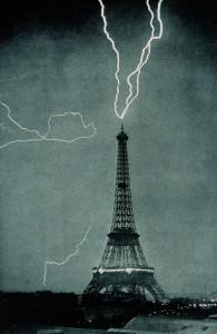 Lightning Eiffel Tower