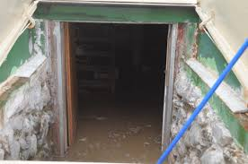 Image of an old wet basement, and smells bad when it fills with water